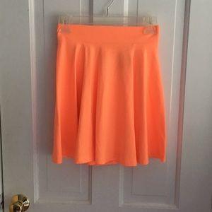 Neon orange skater skirt!